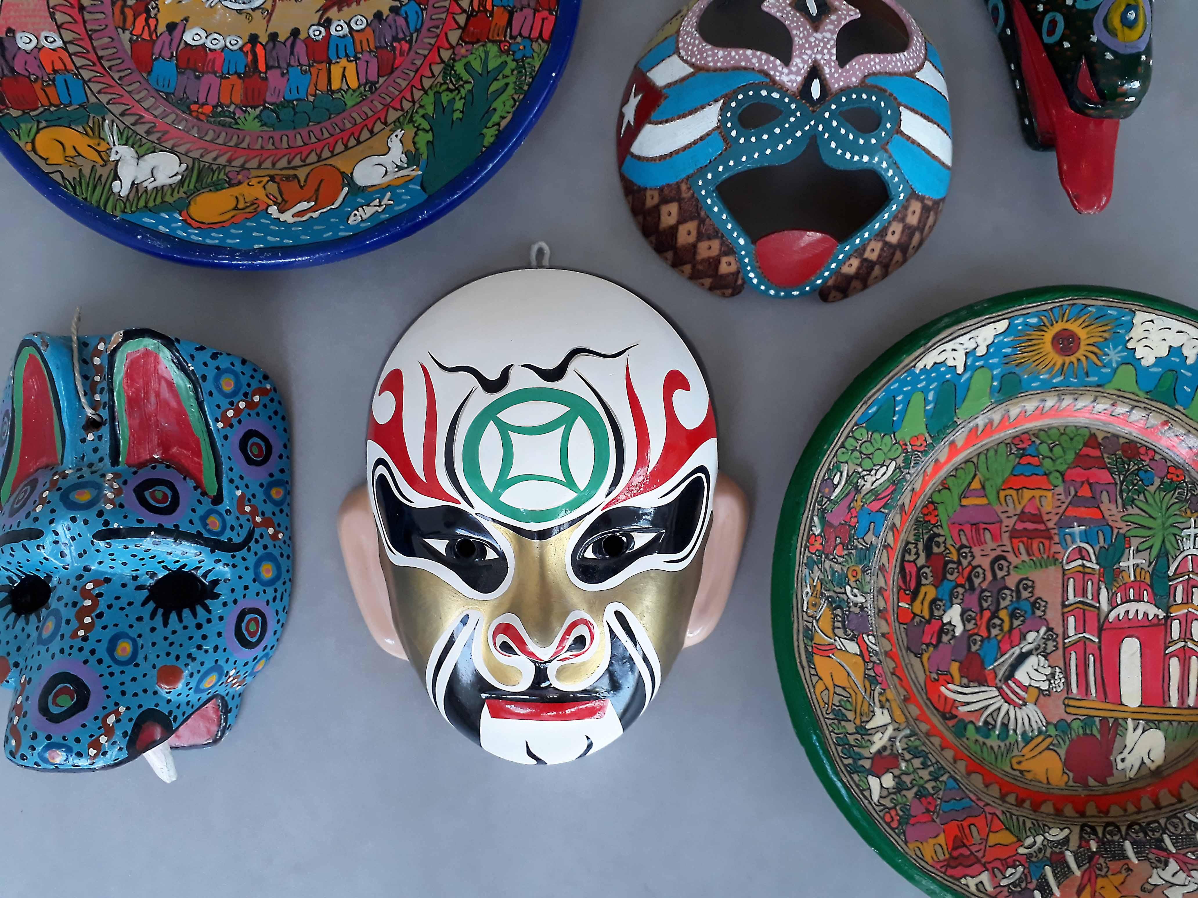 Opera masker Beijing stylingfoto 1